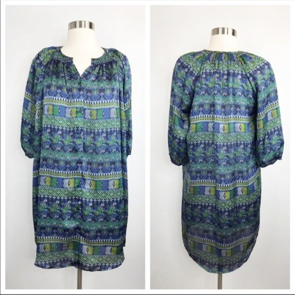 Collective Concepts Dresses & Skirts - Collective Concepts Green Geometric Printed Dress